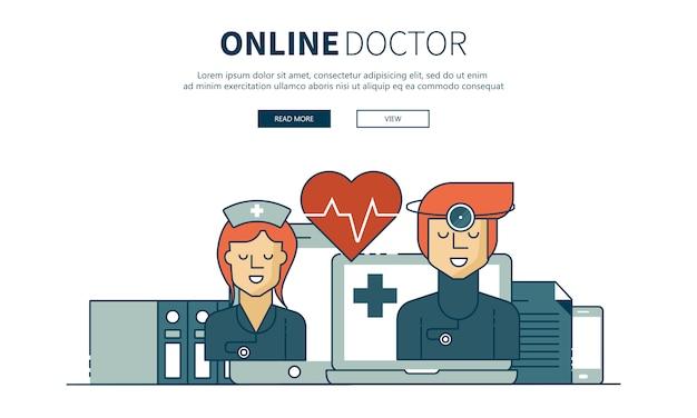 Online-behandlung und online-arzt