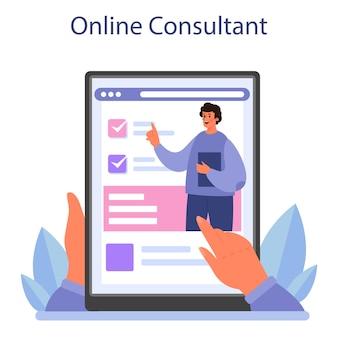 Online-beratung oder -plattform