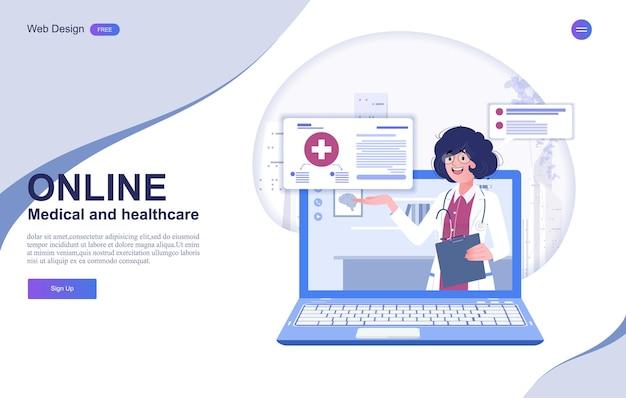 Online-beratungsbanner für medizin und gesundheitswesen