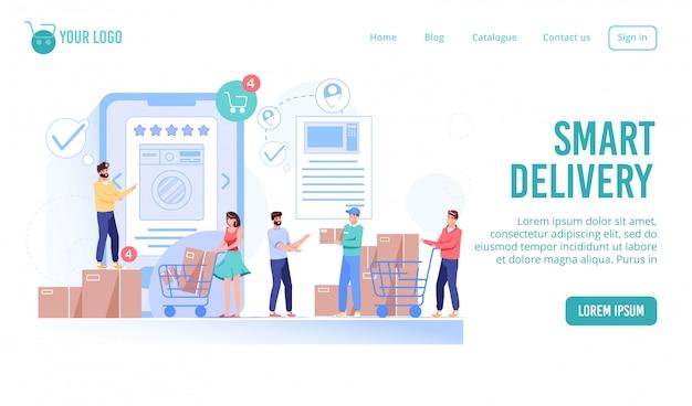 Online-bestellung, kauf, lieferservice