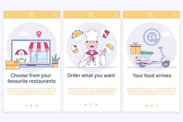 Online-bestellung und fast-food-lieferung