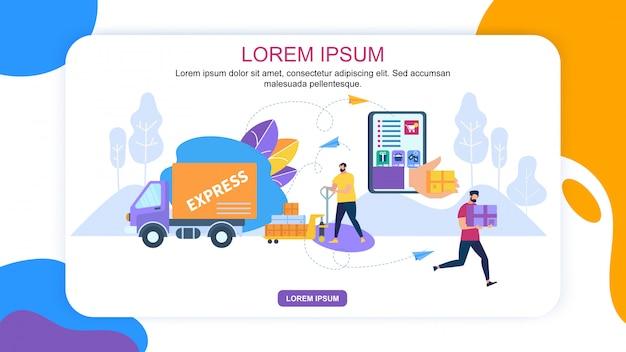 Online-bewerbung für express delivery banner