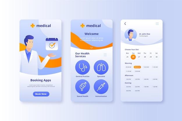 Online-bewerbung für medizinische buchung