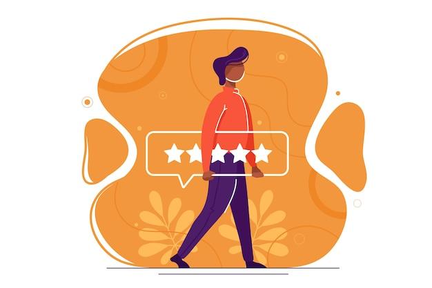 Online-bewertungsthema
