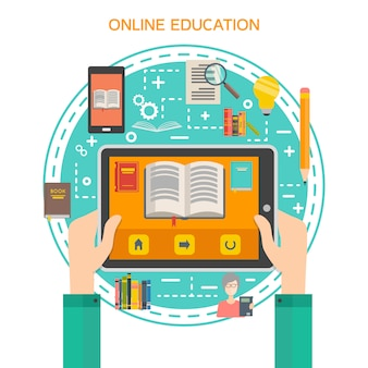 Online-bibliothekskonzept