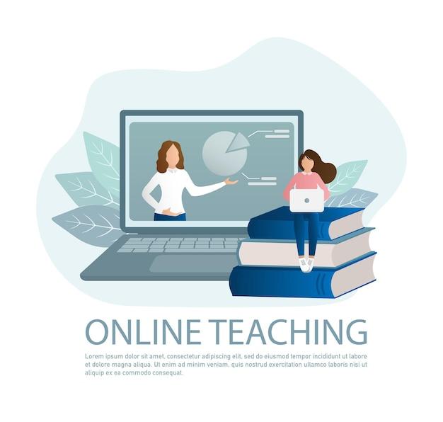 Online-bildung abbildung Premium Vektoren