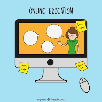 Online-bildung-cartoon
