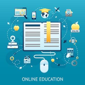 Online-bildung-design-konzept