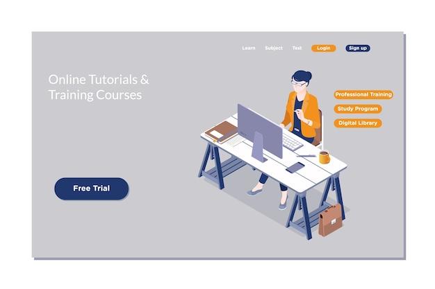 Online-bildung, e-learning, web-kurs.
