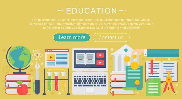 Online-bildung infografiken vorlage design