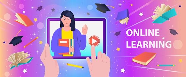 Online-bildung, kurse, schulungen, e-learning, fernunterricht.