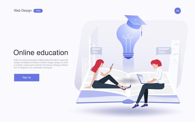 Online-bildung, schulungen und kurse, lernen.