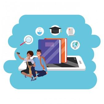 Online-bildung tausendjährige studententablette