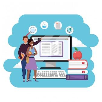 Online-bildung tausendjährigen studenten