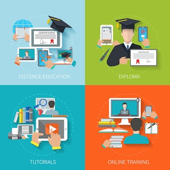 Online Bildung Wohnung