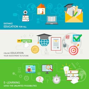 Online-Bildungs-Banner