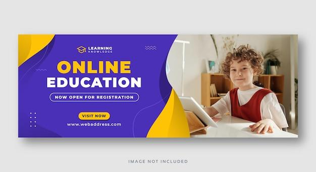 Online-bildungs-webbanner für soziale medien