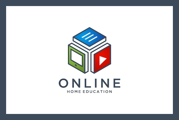 Online-bildungslogo. heimunterricht. persönliche beratung.