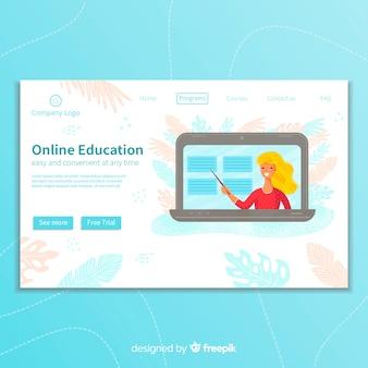 Online-bildungszielseite