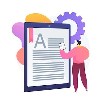 Online-buchung buchen. digitale bibliothek, e-reading, e-books-archiv. internet-buchhandlung. mobiler ereader. dokument- und textbearbeitung. kreatives schreiben.