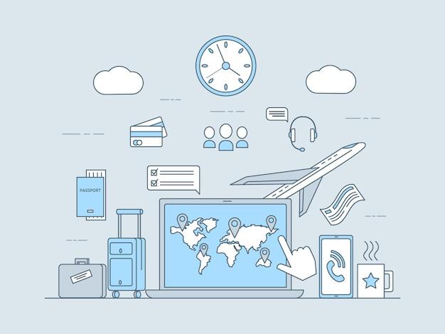 Online-buchung, reisen