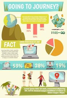 Online-buchungsservice infografiken