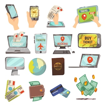 Online-buchungsservice-set
