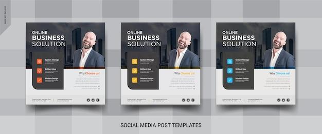 Online-business-instagram social media post-vorlagen