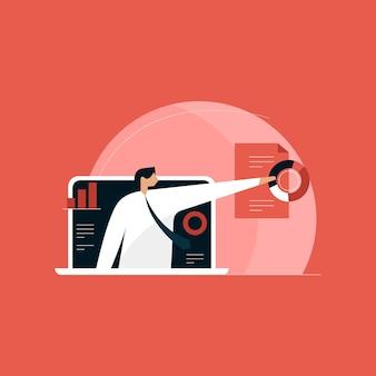 Online-business-präsentation, business-training