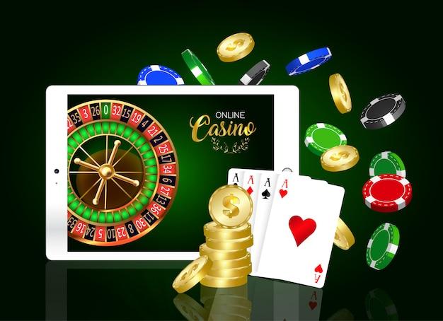 Online casino design banner.