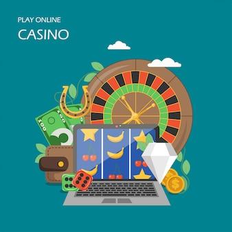 Online casino im flachen stil