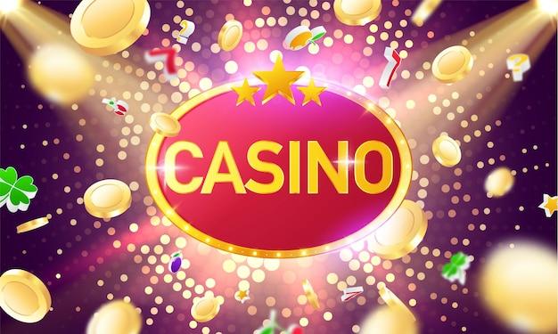 Online casino. smartphone oder mobiltelefon, spielautomat, casino-chips, die realistische spielmarken fliegen, bargeld für roulette oder poker, Premium Vektoren