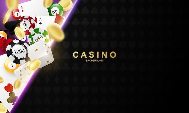 Online-casino. smartphone oder mobiltelefon, spielautomat, casino-chips, die realistische spielmarken fliegen, bargeld für roulette oder poker,