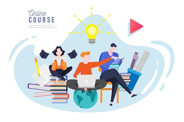 Online-community für kurse und tutorials
