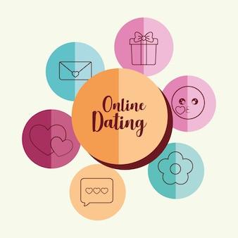 Online-dating-bezogene symbole