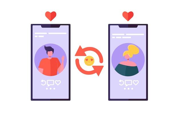 Online-dating-chat-app für romantische verbindung