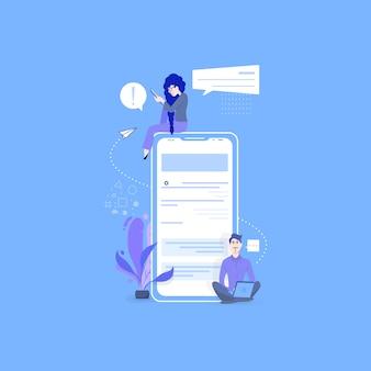 Online-dating und soziale netzwerke