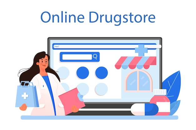 Online-dienst oder plattform für apotheken. apotheker vorbereiten