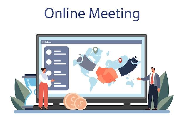 Online-dienst oder plattform für diplomatenberufe