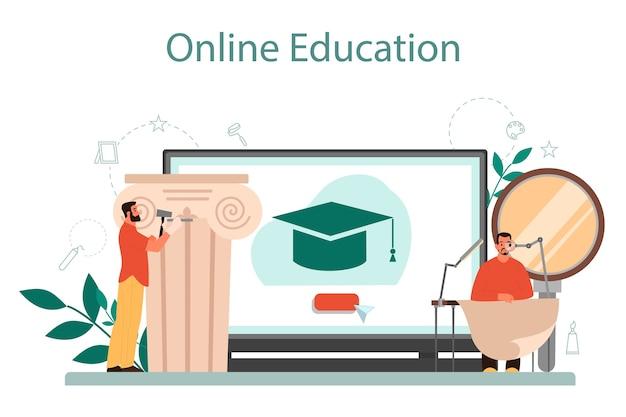 Online-dienst oder plattform für restauratoren.
