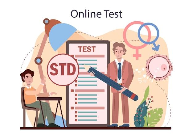 Online-dienst oder plattform für sexualaufklärung. lektion über sexuelle gesundheit