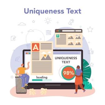 Online-dienst oder plattform für texter. texte schreiben und gestalten