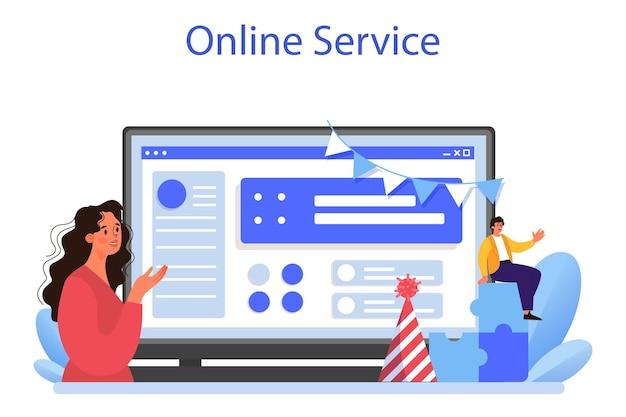 Online-dienst oder plattform für unternehmensbeziehungen. unternehmensethik. entwicklung der unternehmensorganisation und compliance. kurs zur unternehmenspolitik für mitarbeiter. flache vektorillustration