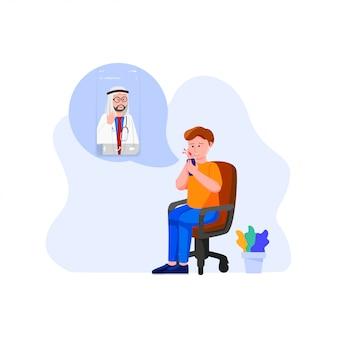 Online-doktor-konzept