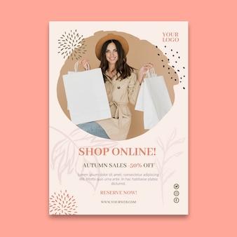 Online-einkäufe a5 flyer vorlage