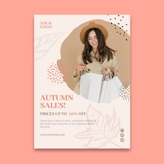 Online-einkäufe a5 flyer