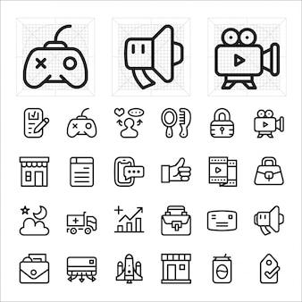 Online einkaufen, e-commerce-icon-set