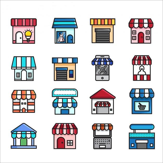 Online einkaufen, e-commerce-symbol vektor