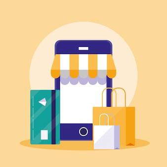 Online einkaufen mit dem smartphone