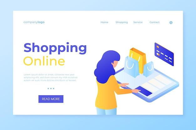Online einkaufen und per karten-landingpage bezahlen